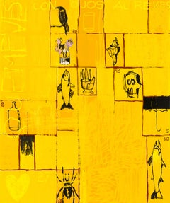 Loteria — 72 x 60 inches-  yellow abstract oil on canvas