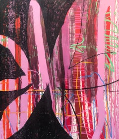 Resurgimiento — 72 x 60 inches - abstract oil on canvas