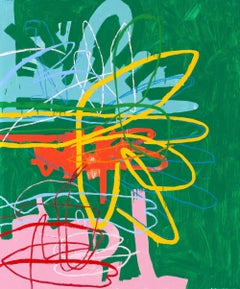 Te Lo Adverti - 72 x 60 inches - abstract expressionistic oil on canvas