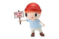 No Art Here Pop Art Toy Sculpture by Javier Calleja