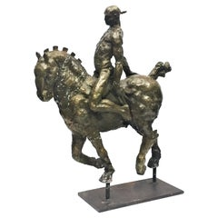Javier Marín, Hombre a Caballo, Contemporary Mexican Bronze Sculpture, ca. 1998