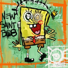 King Sponge, Sponge Bob, Painting, Pop Art, Street Art