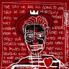 Self Portrait, Street Art, Pop Art, Basquiat, red