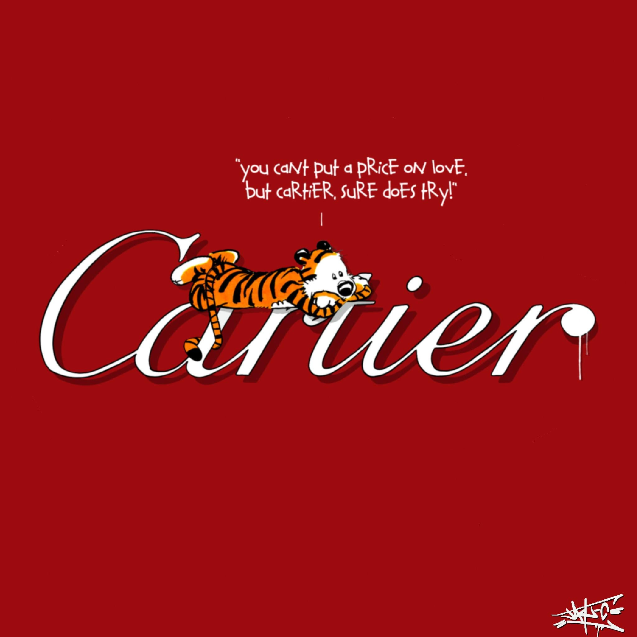You can't put a price on love, Painting, Pop Art, Street Art, Cartier, tiger