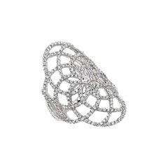 """Jay Gatsby"" Diamond Ring in 18 Karat White Gold by Messika"