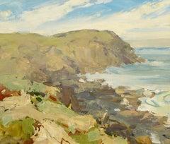 """""""Blackhead, Monhegan,"""" Coast of Maine, Jay Hall Connaway, Impressionist Oil"""