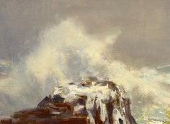 """""""Sea Burst,"""" Monhegan Island, Maine Coast, Jay Hall Connaway, impressionist oil"""