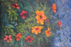 Hibiscus Explosion, Oil Painting
