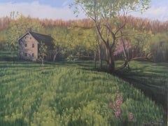 The Qually House in Spring, Oil Painting