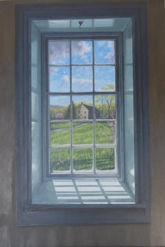 View of the Qually House, Oil Painting
