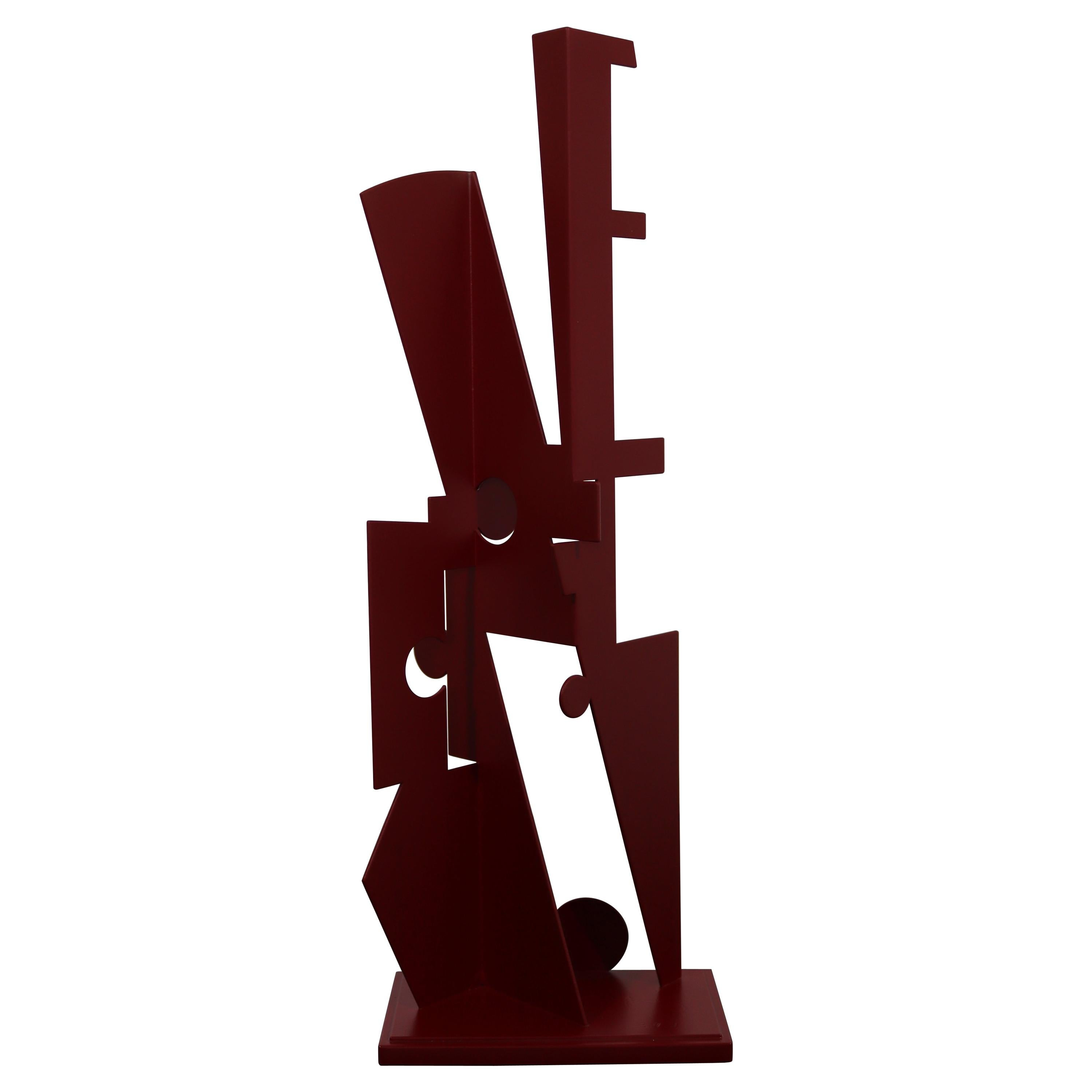 Jay Lefkowitz Red Abstract Contemporary Metal Sculpture
