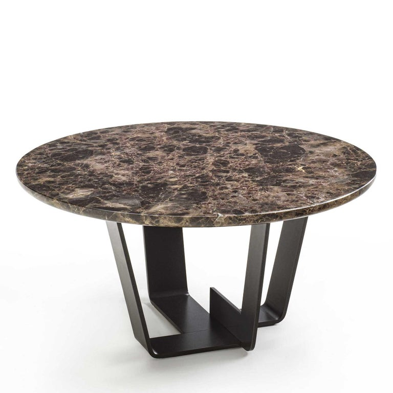 Hand-Crafted Jay Marble Coffee Table For Sale