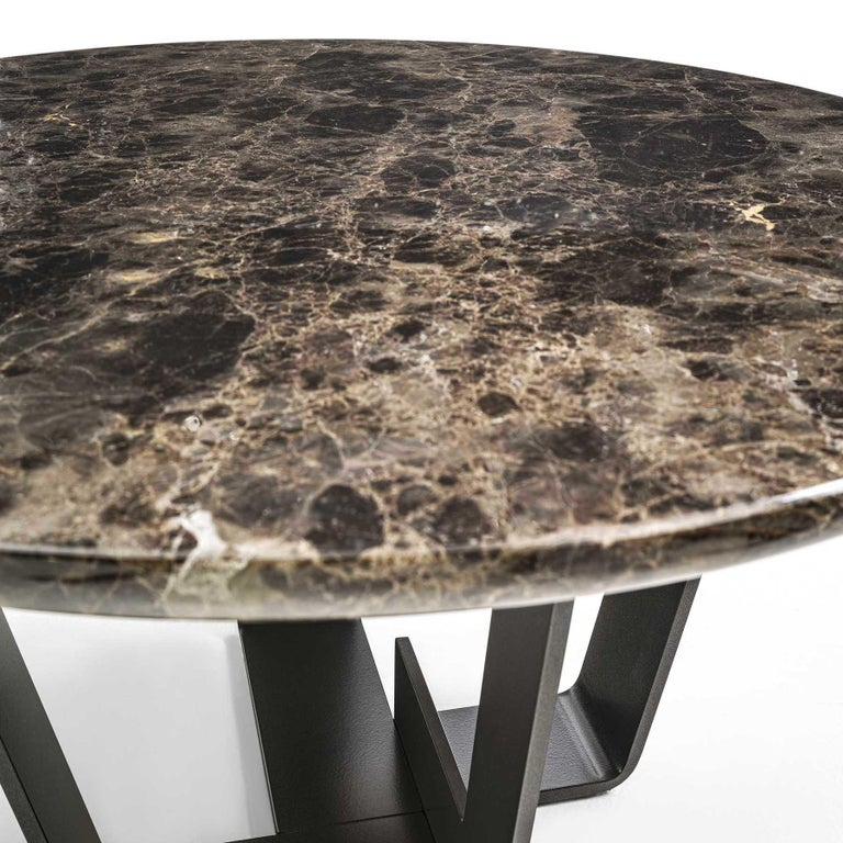 Contemporary Jay Marble Coffee Table For Sale