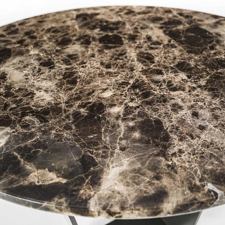 Iron Jay Marble Coffee Table For Sale