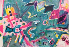 Space Scope, Figurative Expressionist Lithograph by Jay Milder