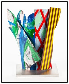 Jay Phillips Original Enamel Painting Steel Sculpture Large Signed Modern Art