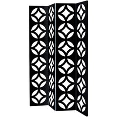 Jay Folding Screen in Black Lacquered Wood