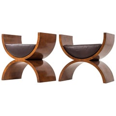 """Jay Spectre """"Curule"""" Benches"""
