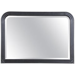 Jay Spectre for Century Furniture Black Lacquered Oak Mirror