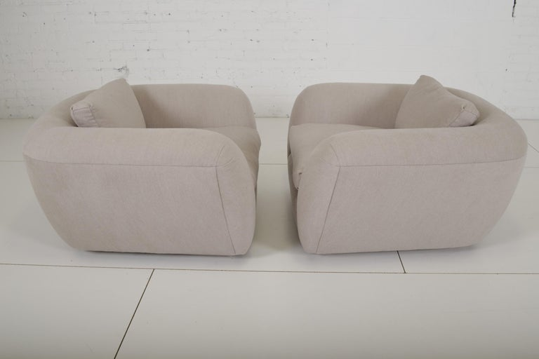 Fabric Jay Spectre Lounge Chairs in Cashmere For Sale