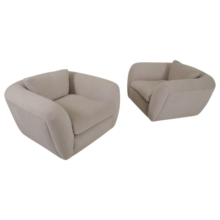 Jay Spectre Lounge Chairs in Cashmere For Sale