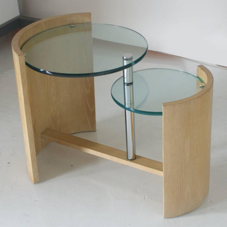 Mid-Century Modern Jay Spectre Occasional Two Level Table For Sale