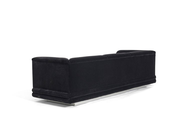 20th Century Jay Spectre Sofas on Chrome Bases For Sale