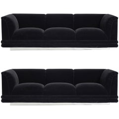 Jay Spectre Sofas on Chrome Bases