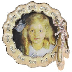 Jay Strongwater Ballet Slipper Detail & Stand Picture Frame