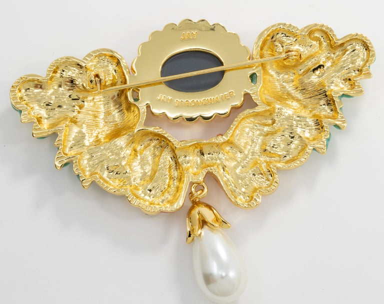 Jay Strongwater Disney's Beauty and the Beast Baroque Romance Pin Brooch In New Condition For Sale In Milford, DE