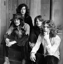 Led Zeppelin at Chateau Marmont Globe Photos Fine Art Print
