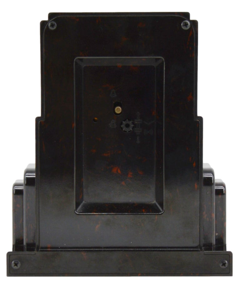 Mid-20th Century JAZ French Art Deco Bakelite Clock, 1930s For Sale