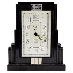 JAZ French Art Deco Bakelite Clock, 1930s