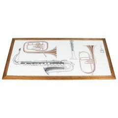 Jazz Low Table Depicting Musical Instruments