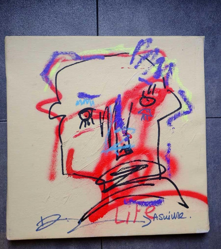 JAZZU - A SUIVRE - Painting by Jazzu