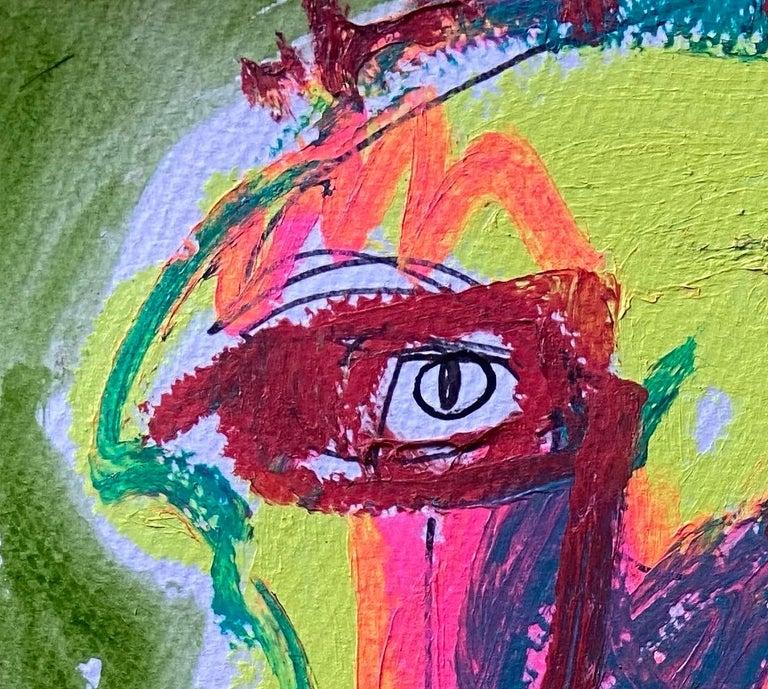 JAZZU –Bada Boom 2020 - Brown Portrait Painting by Jazzu