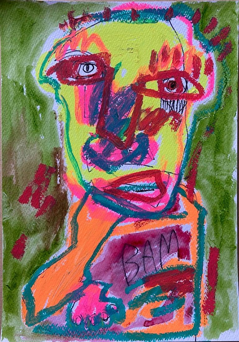 Jazzu Portrait Painting - JAZZU –Bada Boom 2020