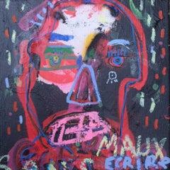 """Jazzu """"Sans Mots"""" acrylic on canvas."""