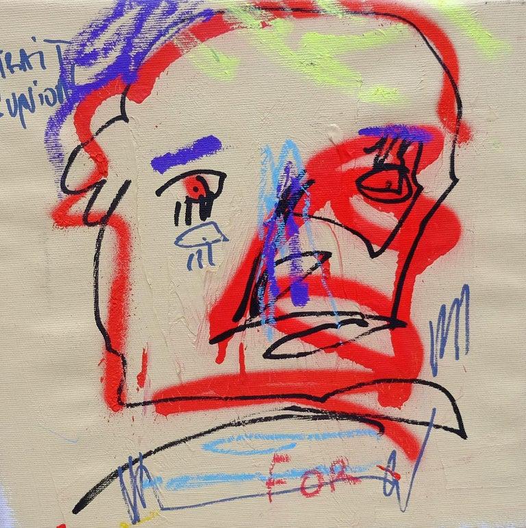 Jazzu Abstract Painting - JAZZU - TRAIT D'UNION