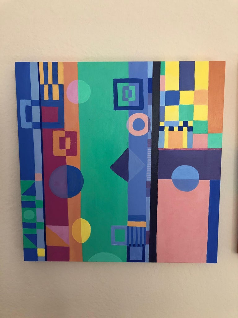 A clever triptych painting on 12