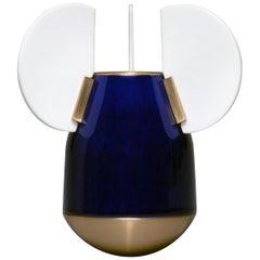 J.B. Fastrez & Sèvres #2 Bleu Porcelain Vase by Manufacture Nationale de Sèvres