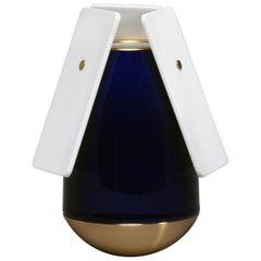 J.B. Fastrez & Sèvres #3 Bleu Porcelain Vase by Manufacture Nationale de Sèvres