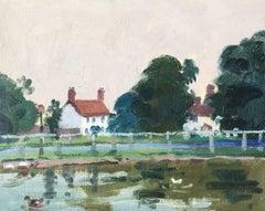 'Bishops Burton', Rural Landscape, Oil Painting