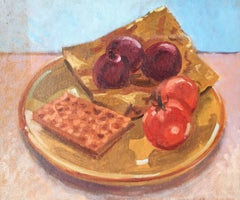 'Lunch' a Still Life Oil Painting by British Artist