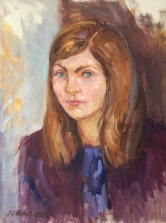Portrait of a Young Lady, Oil Painting