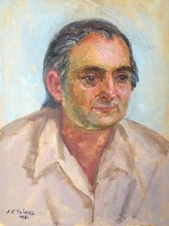 Portrait of an Elderly Man, Oil Painting