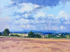 Ripon Countryside, Ploughed Field Landscape Oil Painting