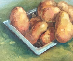 Still life Oil Painting of a Crop of Potatoes