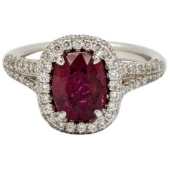 JB Star 2.10 Carat Ruby and Diamond Platinum Ring