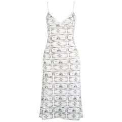 JC de Castelbajac Iconic Vintage Dollar Money Print Pop Art Jersey Dress, 1990s